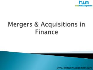 Mergers & Acquisitions in Finance