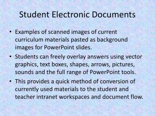 Student Electronic Documents