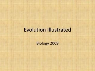 Evolution Illustrated