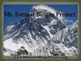 Mt. Everest Biogas Project