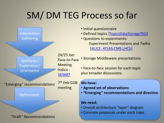 SM/ DM TEG Process so far