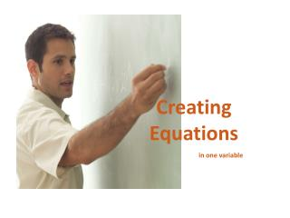 Creating Equations