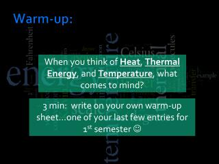 Warm-up: