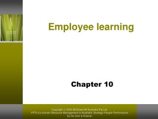 Employee learning