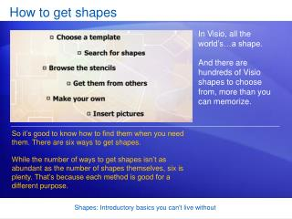 How to get shapes