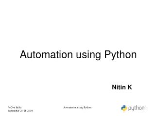 Automation using Python