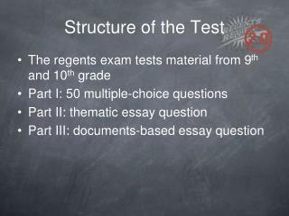 Structure of the Test