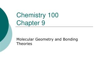Chemistry 100  Chapter 9