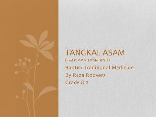Tangkal asam (talisman Tamarind)