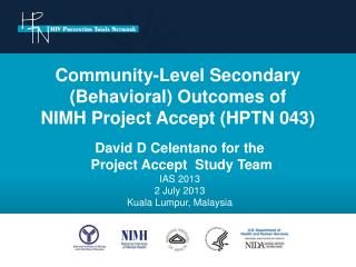 Community-Level Secondary (Behavioral) Outcomes of  NIMH Project Accept (HPTN 043)