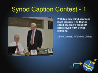 Synod Caption Contest - 1