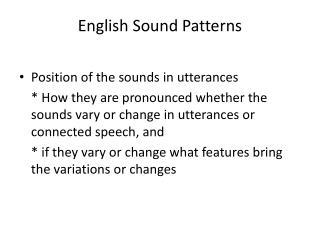 English Sound Patterns