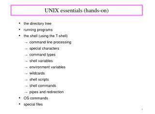 UNIX essentials hands-on