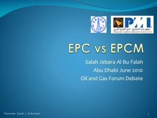 EPC vs EPCM