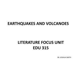 Literature Focus unit EDU 315