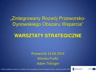 """""""Zintegrowany Rozwój Przeworsko-Dynowskiego Obszaru Wsparcia"""" WARSZTATY STRATEGICZNE"""