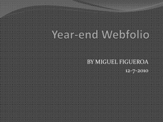 Year-end  Webfolio