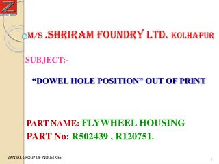 M/S  .Shriram foundry ltd.  kolhapur