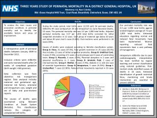 THREE YEARS STUDY OF PERINATAL MORTALITY IN A DISTRICT GENERAL HOSPITAL,  UK