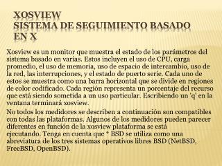 Xosview sistema  de seguimiento basado en X