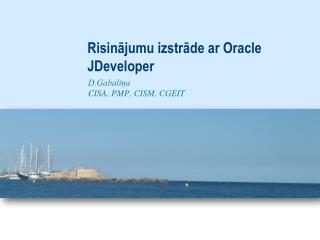Risinājumu izstrāde ar Oracle JDeveloper