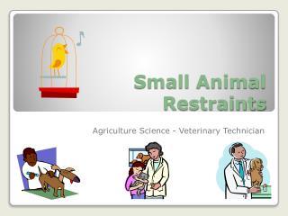 Small Animal Restraints