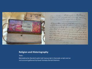 Religion and Historiography