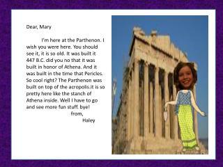 Dear, Mary