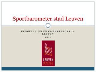 Sportbarometer stad Leuven