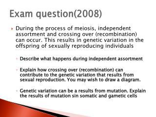 Exam question(2008)