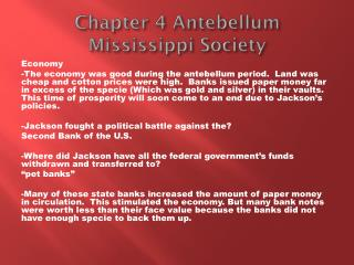 Chapter 4 Antebellum Mississippi Society