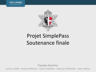 Projet  SimplePass Soutenance finale