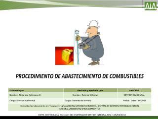 PROCEDIMIENTO DE ABASTECIMIENTO DE COMBUSTIBLES