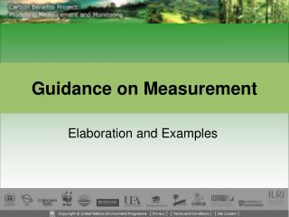 Guidance on Measurement