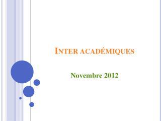 Inter acad�miques
