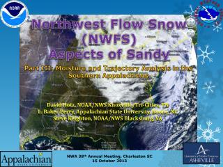 Northwest Flow Snow  (NWFS)  Aspects of Sandy