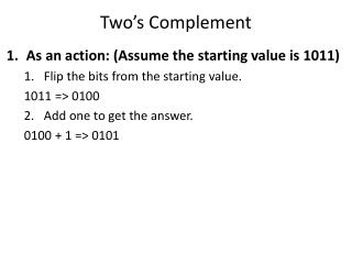 Two's Complement