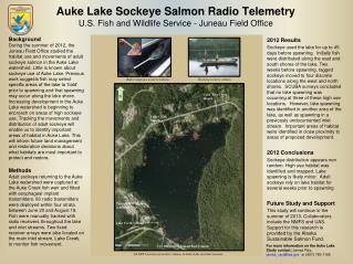 Auke Lake Sockeye Salmon Radio Telemetry U.S. Fish  and Wildlife Service  - Juneau Field  Office