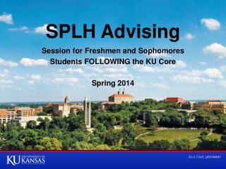 SPLH Advising