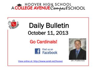 Daily Bulletin October  11,  2013