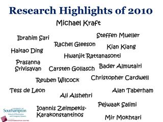 Research Highlights of 2010
