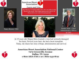 American Heart Association National Center 7272 Greenville Avenue Dallas, TX 75231