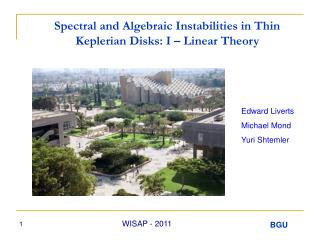 Spectral and Algebraic Instabilities in Thin Keplerian Disks: I – Linear Theory