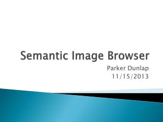 Semantic Image Browser