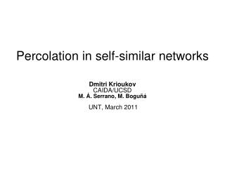Percolation in self-similar networks