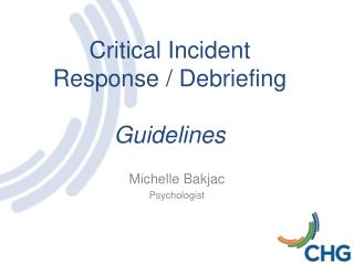 Critical Incident  Response