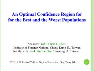 An Optimal Confidence Region for  for the Best and the  Worst Populations