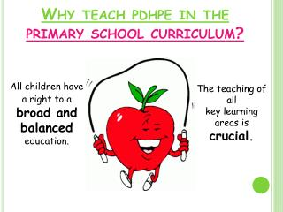 Why teach pdhpe in the  primary school curriculum?