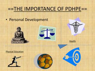 == THE IMPORTANCE OF PDHPE ==