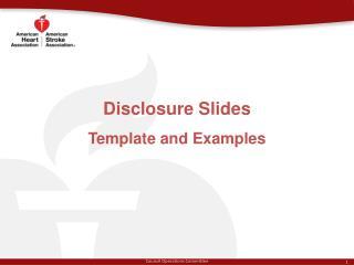 Disclosure Slides